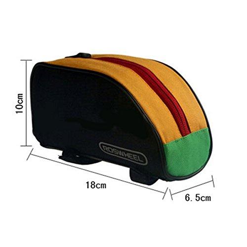 vlunt Radfahren Fahrrad Paket Bike Fahrrad Triangle Front Gepäckträger Rahmen Tube Harte Satteltasche Tasche Cycle Pack - AA