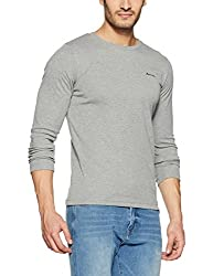 Monte Carlo Mens Solid Regular Fit T-Shirt (217039919-3_Grey_42)