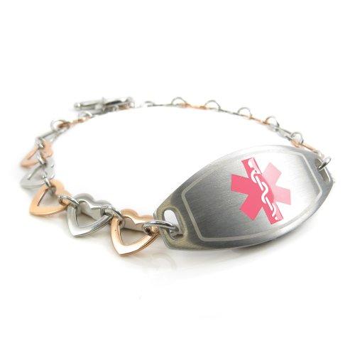 myiddr-collier-arbre-ecrou-allergiques-bracelet-medical-pour-identification-acier-et-coeurs-rose-day