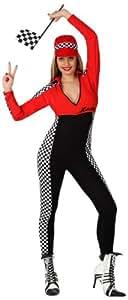 Atosa - 15622 - Costume - Déguisement De Pilote De Course Sexy Femme - Adulte - Taille 1