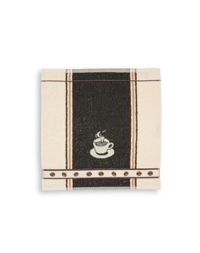 KRACHT, Frottiertuch Espresso , anthrazit, Format 50/50, 100% Baumwolle