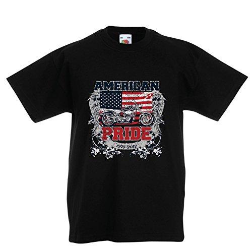 lepni.me Kids T-Shirt Classic American Pride Moto, Retro Motorcycle, Vintage Motobike