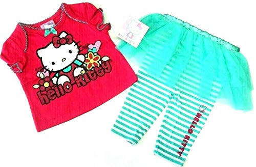 aby Outfit 50/56 T-Shirt mit Tutu Rock Leggings Hose USA Size Newborn Neugeborenen Set ()