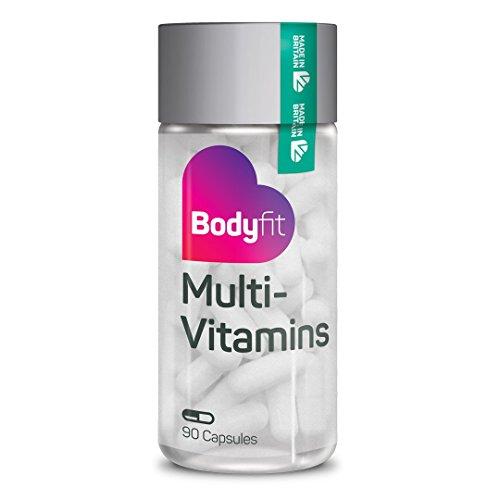 Veganes Nahrungsergänzungsmittel Bodyfit MultiVitamins 3 Monatspackung mit Mineralien, Co-Enyzm Q10, L-Carnitine und L-Lysin - Antioxidant 30 Tabletten