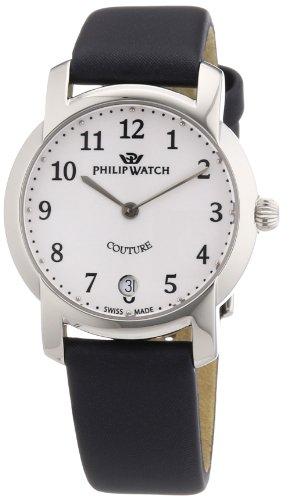 Philip Watch R8251198545 - Reloj analógico de cuarzo para mujer con correa de piel, color negro