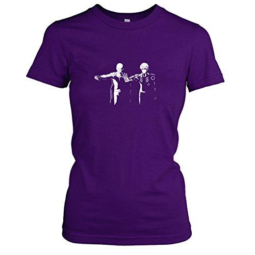on - Damen T-Shirt, Größe XL, violett (Vincent Vega Und Jules Kostüm)