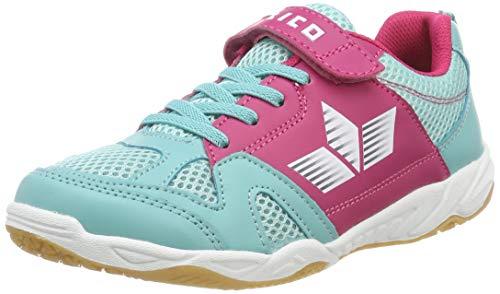 Lico Mädchen Sport VS Multisport Indoor Schuhe Türkis/Pink/Weiß, 35 EU