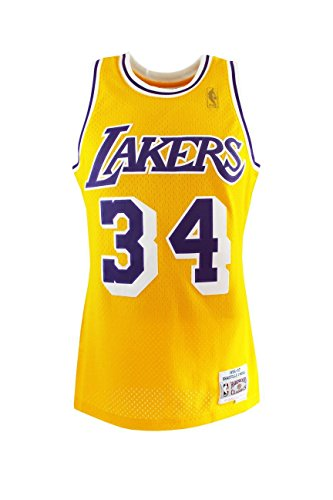 Mitchell & Ness Shaq O'NEAL # 32 Los Angeles Lakers 1996–97 swingman NBA Maillot Jaune