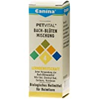 Canina 71430 8 Petvital Bachblüten Nr. 4 Lernbereitschaft 10 g - für Tiere