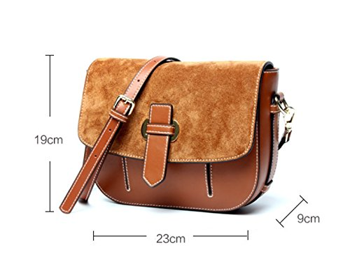 Genuine Leather Opaca Vintage Scopare Pouch Singola Spalla Crossbody Bag Per Le Donne Gray