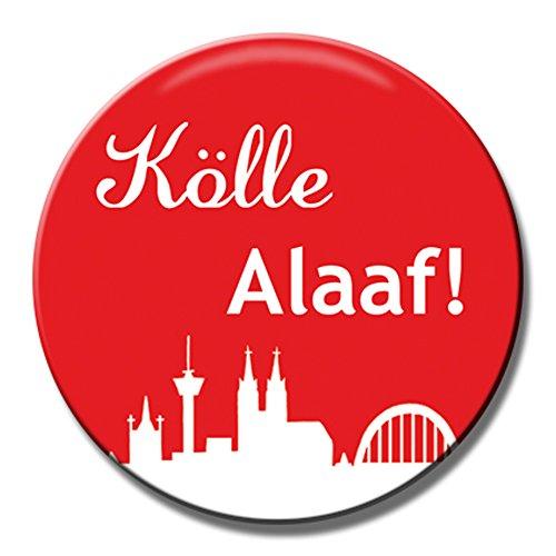 Polarkind Button Anstecker 100 Stück Karnevalsanstecker Kölle Alaaf Wurfmaterial Umzug Fasching Angebot 38mm (Umzug Angebote)