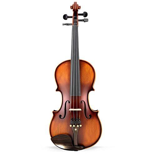 North King Massivholz Fichte Italien Ebenholz String handgefertigte Geige Kinder und Erwachsene Musikinstrument für Anfänger, Pract gemacht EIS
