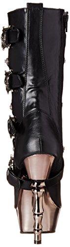 Demonia - Muerto-1026, Stivali Donna Nero (Blk Vegan Leather/Pewter Chrome)