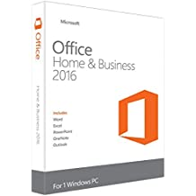 Microsoft Office Home & Business 2016 für 1 PC - Neu & unbenutzt - (Produktschlüssel ohne Datenträger) - Beinhaltet Word, Excel, Powerpoint, One Note und Outlook