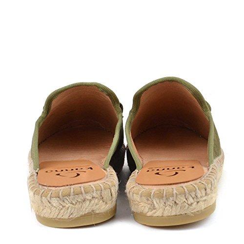 Kanna Chaussures Dora Chamois Espadrilles Kaki Femme Kaki