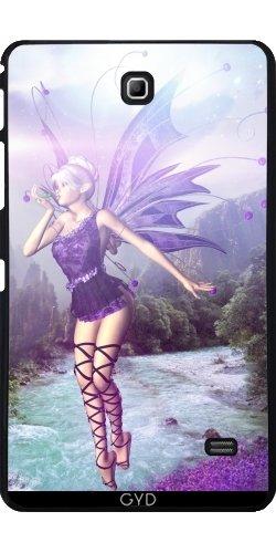 Hülle für Samsung Galaxy Tab 4 (7 Zoll) - Gebühr Elf Fantasy Einhorn Magie by (Kostüm Female Wood Elf)