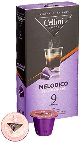 Cellini Espresso Melodico Decaffeinato  (10 Kapseln à 5 g), 5er Pack (5 x 50 g)