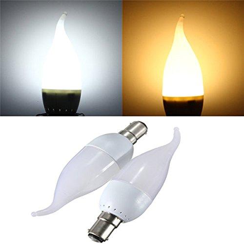 Moppi Candela di B15 3w bianco caldo bianco LED fiamma lampadario lampadina 220v ac