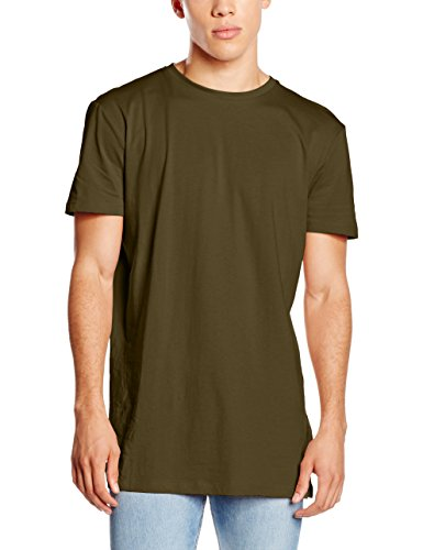 New Look Basic Longline Tee, T-Shirt Uomo Green