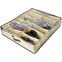 Lorsoul 2pcs / Set 12 cuadrículas Debajo de la Cama Organizador de Zapatos para niños Adultos Zapatos Armario Organizador del almacenaje de la Caja