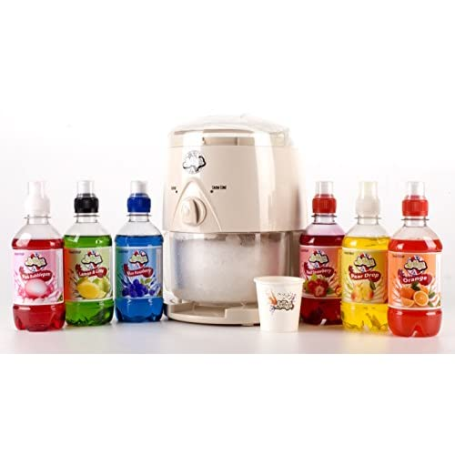 4151pU4 KSL. SS500  - Lickleys Snow Cone Ice Shaver/Slushy Maker Makes Home ice Drinks, (Black Machine with Cocktail 6 Pack)