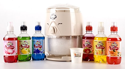4151pU4 KSL - Lickleys Snow Cone Ice Shaver/Slushy Maker Makes Home ice Drinks, Presented with Flavoured syrups