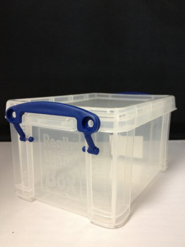 Really Useful Box Kunststoff-Boxen transparent 19 l (39,5cmx25,5cmx29,0cm) Aufbewahrungsbox incl. 10 Blatt Fotopapier von Toner und Tinten Fuchs