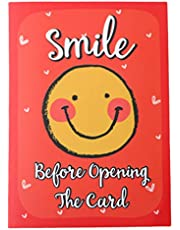 Oye Happy - Emoji Face Greeting Card -Cute and Cheesy Card for Friends/Girlfriend/Boyfriend to Gift on Birthday