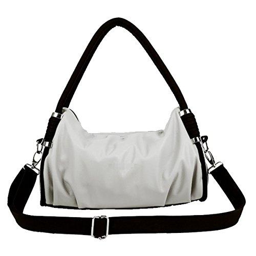 Frauen Top-Griff Ranzen Handtaschen Tote-Geldbeutel-Schulter-Beutel Multicolor White