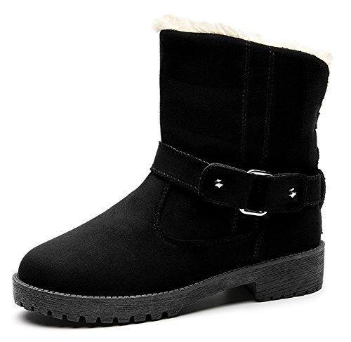 Bottines Boots Low Fourrées Femme Bwz4qa Aisun Noir Chaud XxIpgY