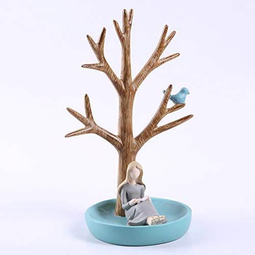 YANGLAN Kreative Baum Mädchen Schmuckständer, Harz Handwerk Home/Wohnzimmer Schmuckständer, Dekorationen (Home-wohnzimmer Dekorationen)