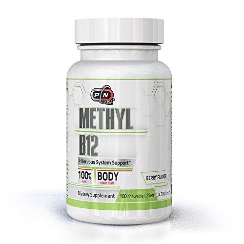 Pure Nutrition METHYL Vitamin B12 Lutschtabletten Hochdosiert Methylcobalamin 2000μg Beerengeschmack|100{c3f24dd8c0f7daec4ab9050f2cac2b5ff85551d85380a25a07f2b82620509de4} Rein Vegan Bio mit Stevia Extract|3 Monate 100 Tabletten 2000mcg|Premium Qualitat