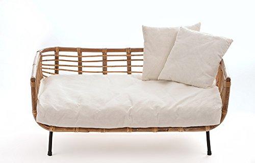 animal-design Canapé Moderne en rotin avec Coussin pour Chien/Chat
