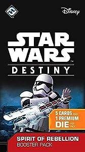 """Fantasy Flight Games Star Wars Destiny - Paquete de ampliación """"Spirit of Rebellion"""" del juego de cartas """",versión inglesa"""