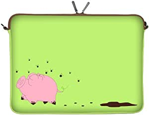 Sleeves4You Notebooktasche 11,6 Zoll Neopren Hülle Laptop Sleeve Netbook Cover Happy Piggy 158-11