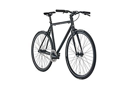 Fixie Urban-Bike Blackheath Black 2018 ist EIN leichtes City-Rad in Matt-Schwarz   Cooles Fixed-Gear Fahrrad mit 28-Zoll Reifen