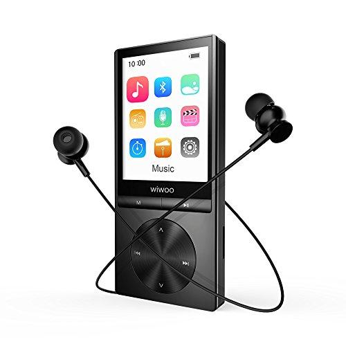 """MP3 Player Bluetooth, 16 GB Bluetooth MP3 Player mit Kopfhörer Sport 2.4"""" TFT Bildschirm, MP3 Player Sport mit Radio, Sprachaufzeichnung und Armband, Speicher Erweiterbar bis 128 GB"""