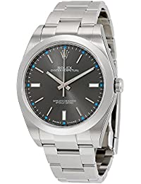 Rolex Men's 39mm Steel Bracelet & Case Sapphire Crystal Automatic Grey Dial Analog Watch m114300-0001