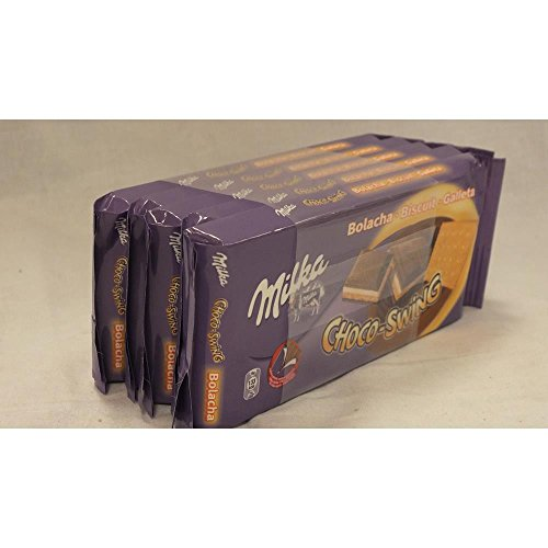 Milka Schokoladen-Tafel Choco-Swing, 5 x 100g (Schokolade mit Keks)