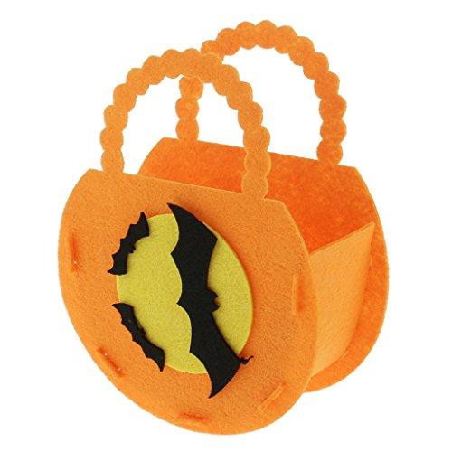 MagiDeal DIY Tragbare Filz Handtasche Umhängetasche Süßigkeitstasche, Einfach zu montieren, Perfekt für Halloween Allerheiligen Party Dekoration - # (Zu Montieren Kostüme Halloween Einfach)