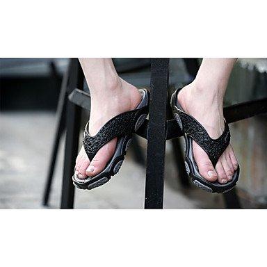 Slippers & amp da uomo;Estate Flip-Flopss PU piano casuale HeelGreen / grigio / nero e rosso / Ora sandali US8 / EU40 / UK7 / CN41