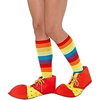 Smiffy 's–47446–Cubrezapatos de payaso,–Maletín, Color Rojo y amarillo, talla única