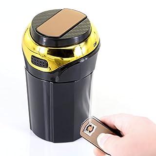 Auto Aschenbecher abnehmbare Auto Zigarettenanzünder mit blauen Licht rauchfreien USB-Ladekabel