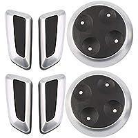 Libertroy Perilla de Interruptor Ajustable del Asiento 6pcs Negro Mate Cromo automóviles Audi - Negro