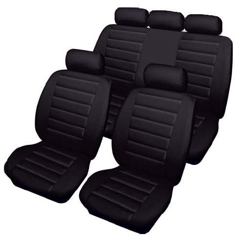 XtremeAuto®, set di coprisedili neri Carrera, effetto