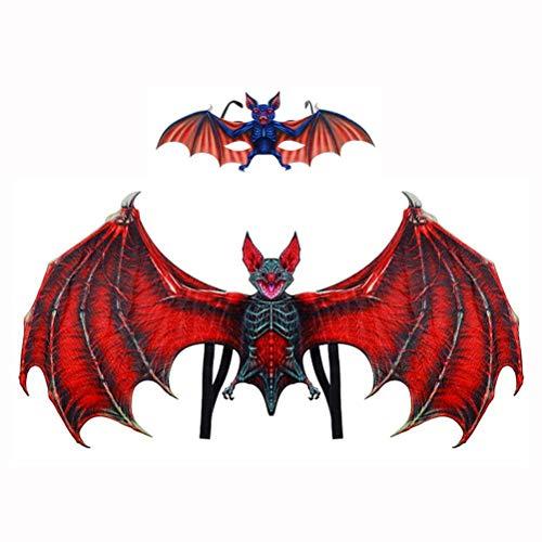 Kostüm Flügel Dämon - Egosy Cosplay Requisiten Dämon Flügel Junge Mädchen Lustige Halloween kostüm Wawel Drachen Dekoration Weihnachten Party Spielzeug Dress Up Wings