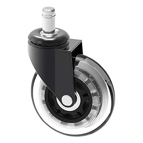10 mm stelo chair caster wheel replacement herrman proteggere pavimenti in legno duro per ikea ufficio sedie | 7,6 cm grande manubrio in gomma resistente ikea caster, dimensioni: 10 mm x 22 mm (3/20,3 cm