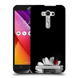 Snoogg White Sunflower Petal Designer Protective Phone Back Case Cover for Asus Zenfone Selfie