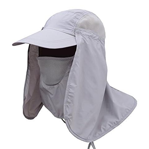 Gracelaza Extérieur Hommes Chapeau de Pêche Chapeau de Soleil Respirant Pêche Casquette Protection Hat pour Trekking Randonnée pédestre chasse Pêcheur Anti-UV UPF 50+, #3