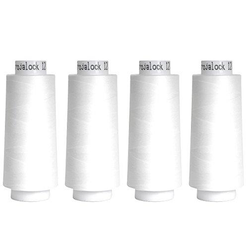 Amann Nähgarn, 100% Polyester, weiß, 4X 2500m